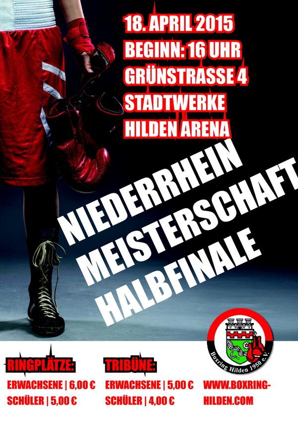 Plakat Boxring Hilden 600l