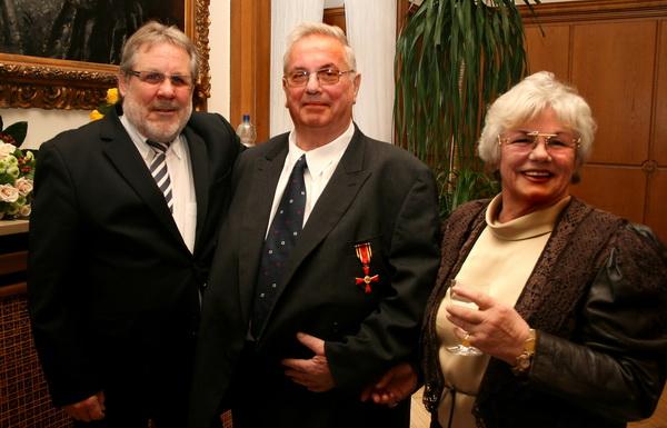 v.l. Jürgen Kyas, DBV, Hans Gerd Rosik und Ehefrau Edda