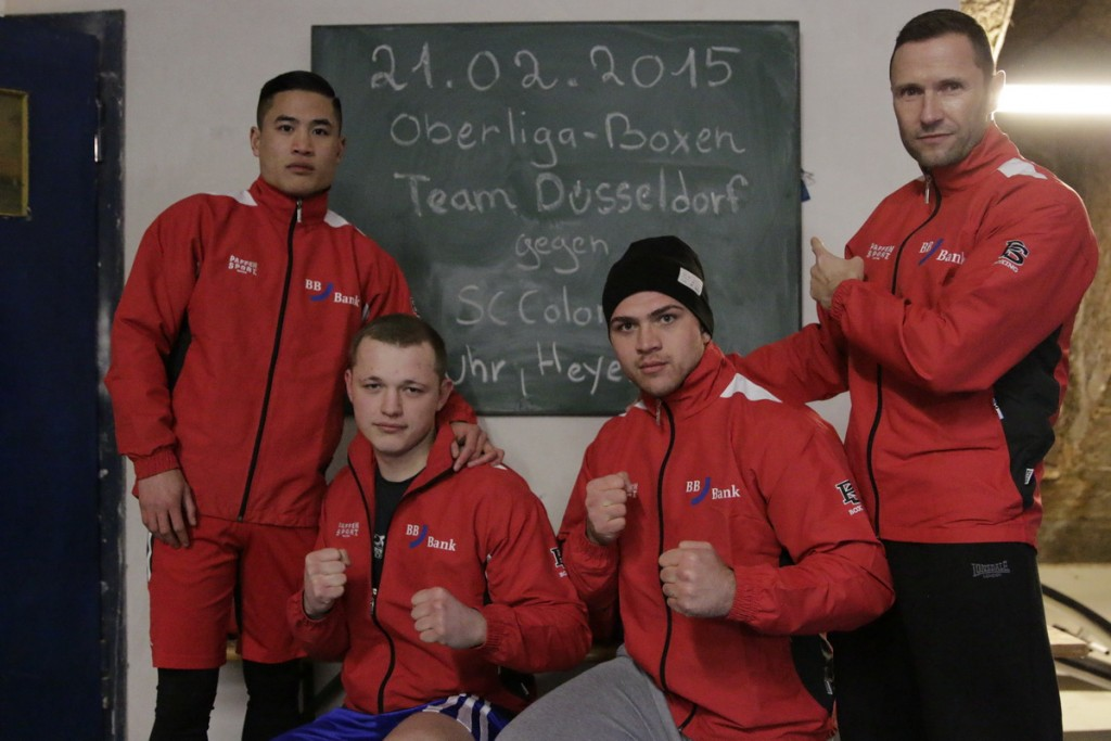 v.l. Tim Pham, Arthur Gerzen, Vladimir Eichholz und Teamchef Becker - Respektieren Köln fürchten sie aber nicht