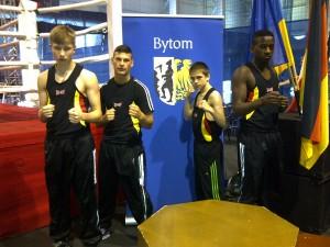 Die Boxer aus Bytom: v.l. O. Ginkel, S. Aybay, J. Spang, T. Malutedi